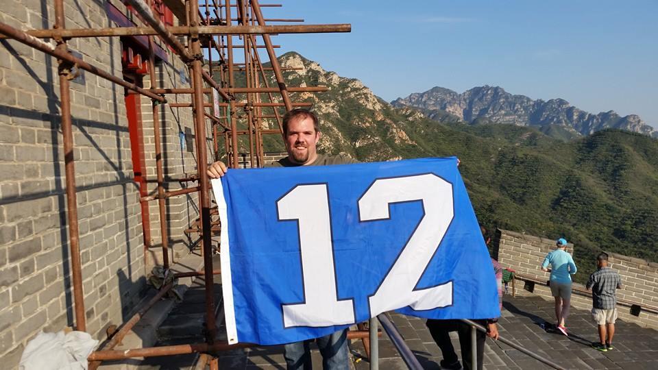 Justin Aufdermauer at Great Wall of China