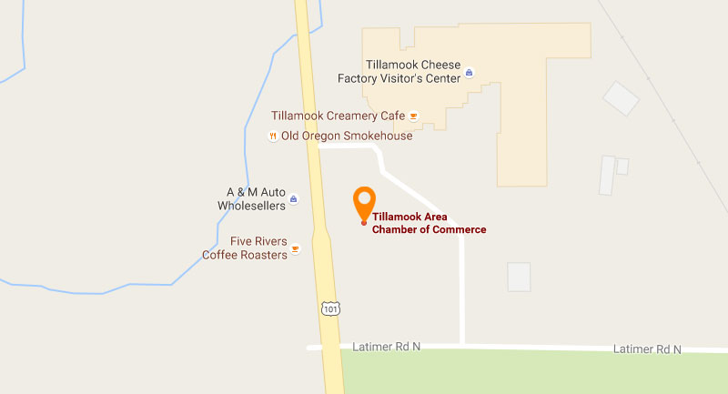 Map location of Tillamook Area Chamber of Commerce